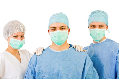 medical room: group of surgeons  Stock Photo