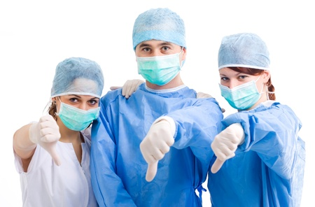 Thumbs down medical team Stock Photo - 9524663