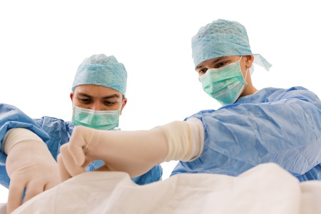 Group of surgeons during work photo