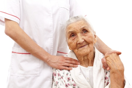 age care: young doctor Stock Photo