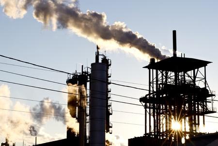 contaminacion acustica: chumneys de edificios industriales