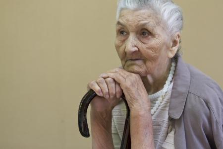 sad old lady photo