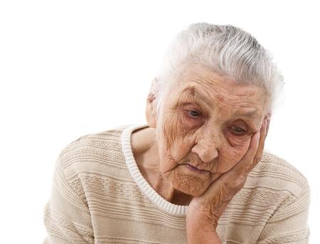 depressed old lady
