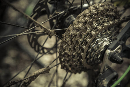 muddy: Muddy gears after race