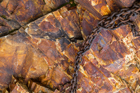 Red marble-rock close-up  photo