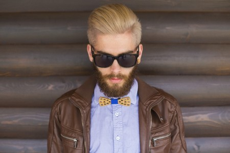 new generation: New generation style represented by blond hipster guy.