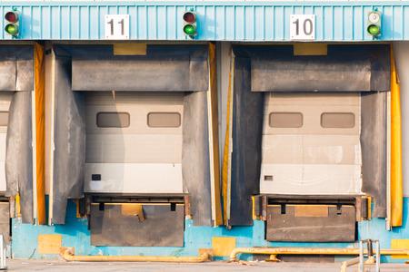 centers: Logistics centers empty Loading dock cargo doors