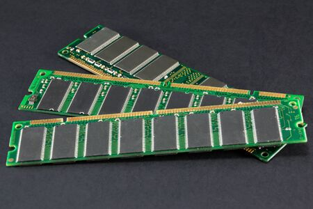 databank: notebook and laptop computer memory, pc memory banks Stock Photo