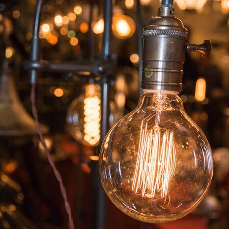 artificial light: vintage electric carbon light
