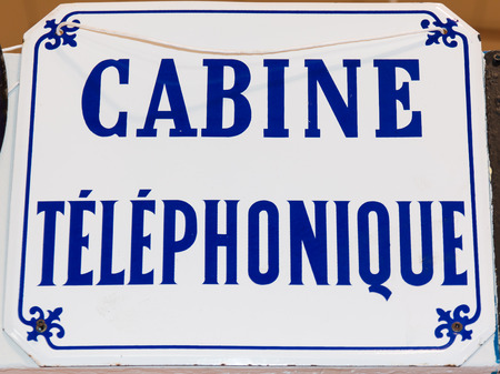 frence: Vintage call box sign