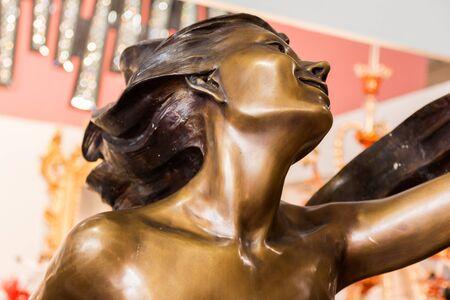 sublime: Statue Detail: female profile head close-up, face