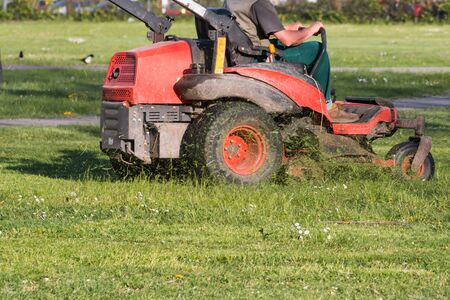 upkeep: Riding Lawn Equipment with operator for periodically garden upkeep