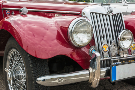PARMA, ITALY - APRIL 2015: MG Retro Vintage Car