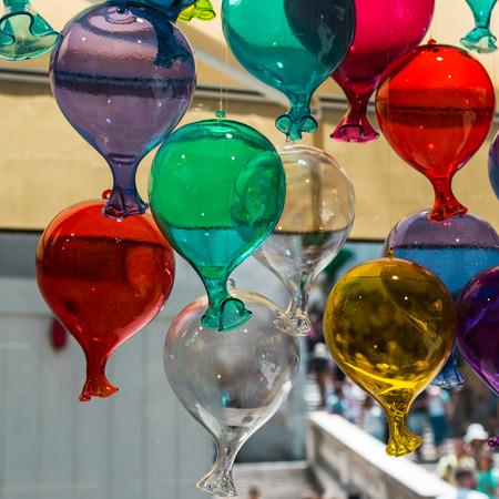 Murano: Multicolored Glass Balloons Made in Murano, Venice - Italy