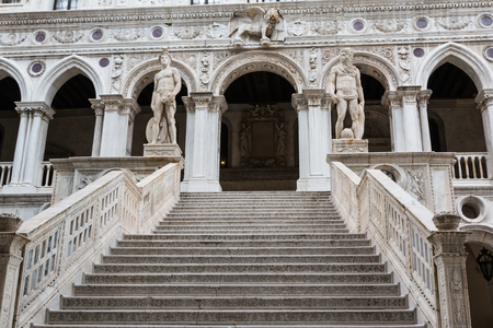 doges  palace: The Giants� Staircase of the Doge�s Palace in Venice, Italy Stock Photo