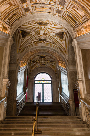 Golden Staircase in the Doges Palace, Venice - Italy Editorial