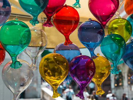 Multicolored Glass Balloons Made in Murano, Venice - Italy