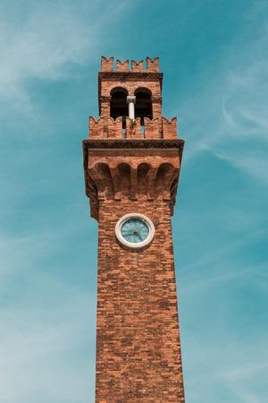 san giacomo: The Bell Tower of San Giacomo in Murano island near Venice, Italy