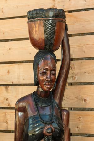 African Handmade Ethnic Wooden Statue