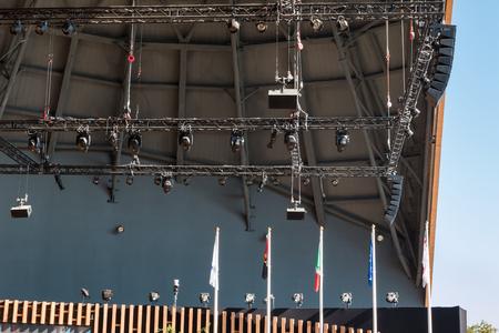 lintel: Stage Lights Rack with Spotlights