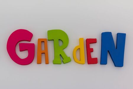 Colorful Words Garden: Text Message on White Background