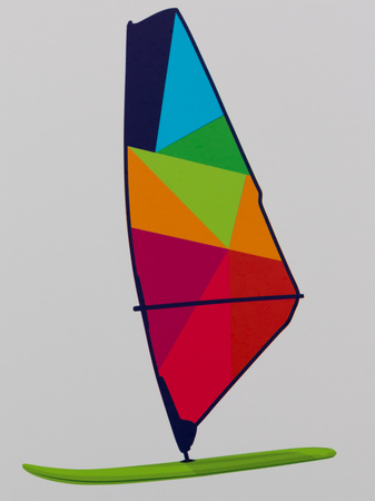 sailboard: Colorful WindSurf Board Picture on White Background