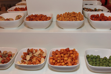 alimentation: Assorted Raw and Fried Vegetables inside White Dishes in Restaurant