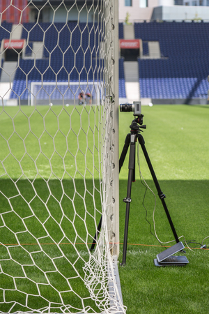 Devices and Equipments for New Goal Post Line Technologies in Empty Soccer Stadium