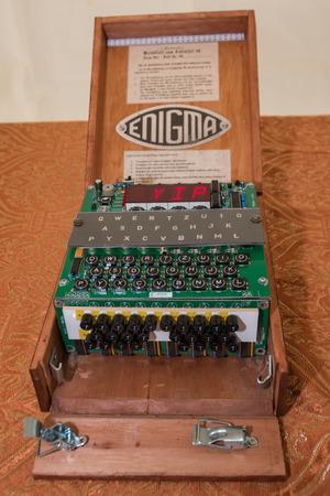The Enigma Cipher Machine de codage de la Seconde Guerre mondiale Banque d'images