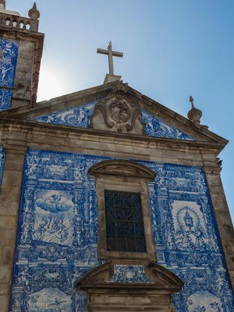 Capela das Almas Decorated with Azulejo Tile - Capela de Santa Catarina in Porto, Portugal