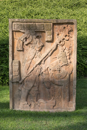 Stone Stele inside a Park in Italy.