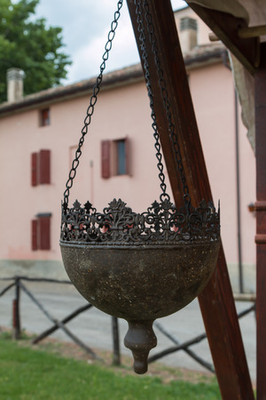 Hanging Planters Pots Wrought Half Round in Italy