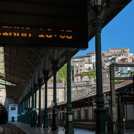 Railway Train Station Sao Bento, Porto, Portugal- Editorial