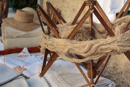 Vintage Wooden Umbrella Swift for Fibers Hank