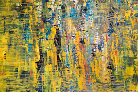 Abstract Painting Art: Strokes with Different Color Patterns like Blue, Yellow, Orange, Green, Red, etc. 免版税图像