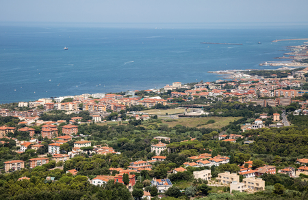 Aerial View of the city of Livorno in Tuscany, Italy.