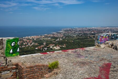 View of the City of Livorno above the Mausoleum of Ciano.
