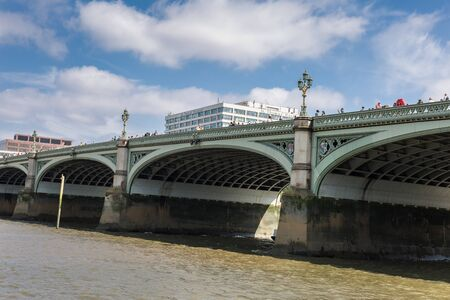 View from the Bottom of the Westminster Bridge in London.