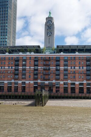 Oxo Tower Wharf on the South Bank of the River Thames in London.