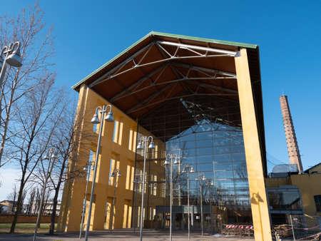 Auditorium Paganini, Congress Center Building in Parma in the ex-Eridania Urban Public Park, Parma.