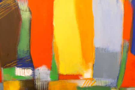 Paint on Canvas: Colored Sections with Bright Shades.