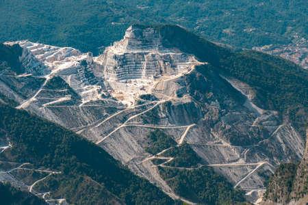View of the Carrara Marble Quarries. Фото со стока