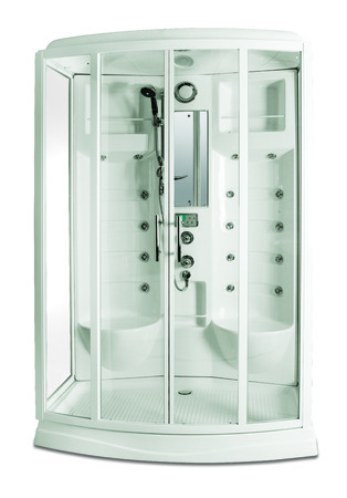 cabine de douche: cabine de douche moderne isol� Banque d'images