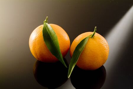 ripe mandarins photo