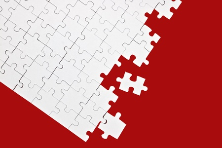 a puzzle with missing parts, which are connected photo