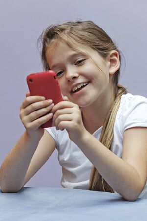 A seven year old girl who used a smartphone
