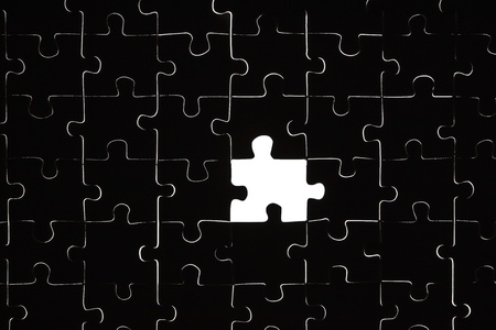 Puzzle with a missing part photo