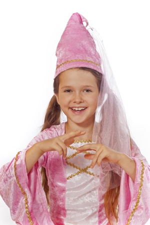 eight year old: eight year old girl in a costume dressed as a fairy