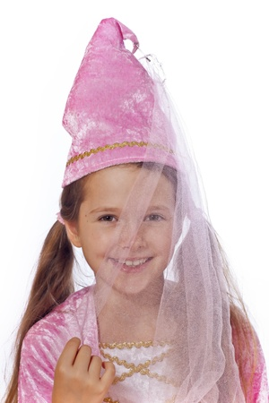 disguised: eight year old girl in a costume dressed as a fairy