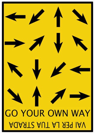 way to go: Go your own way arrow